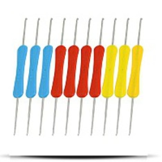 10 Pcs Red Blue Yellow Handle Dual Head