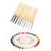 colorful aluminum crochet round pearl straight