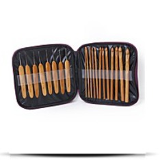 20PCS Bamboo Crochet Hooks Knitting Needles