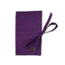 della knitting crochet travel wallet purple