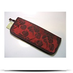 Red Brown Zip Combo Knitting Needle Case